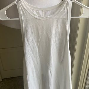 White Perforated Tank w/ Tie Back - Size 4